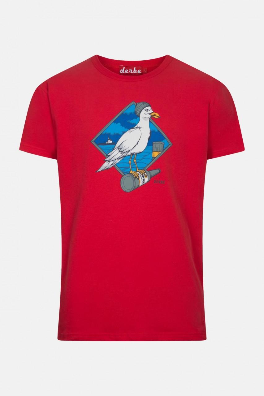 Derbe Sturmmöwe Rot Herren T-Shirt