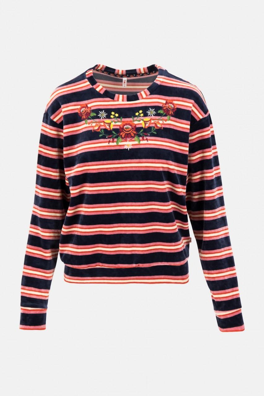 Blutsgeschwister Samtpfoten Sweater Ski Stripe Damen Pullover Gestreift