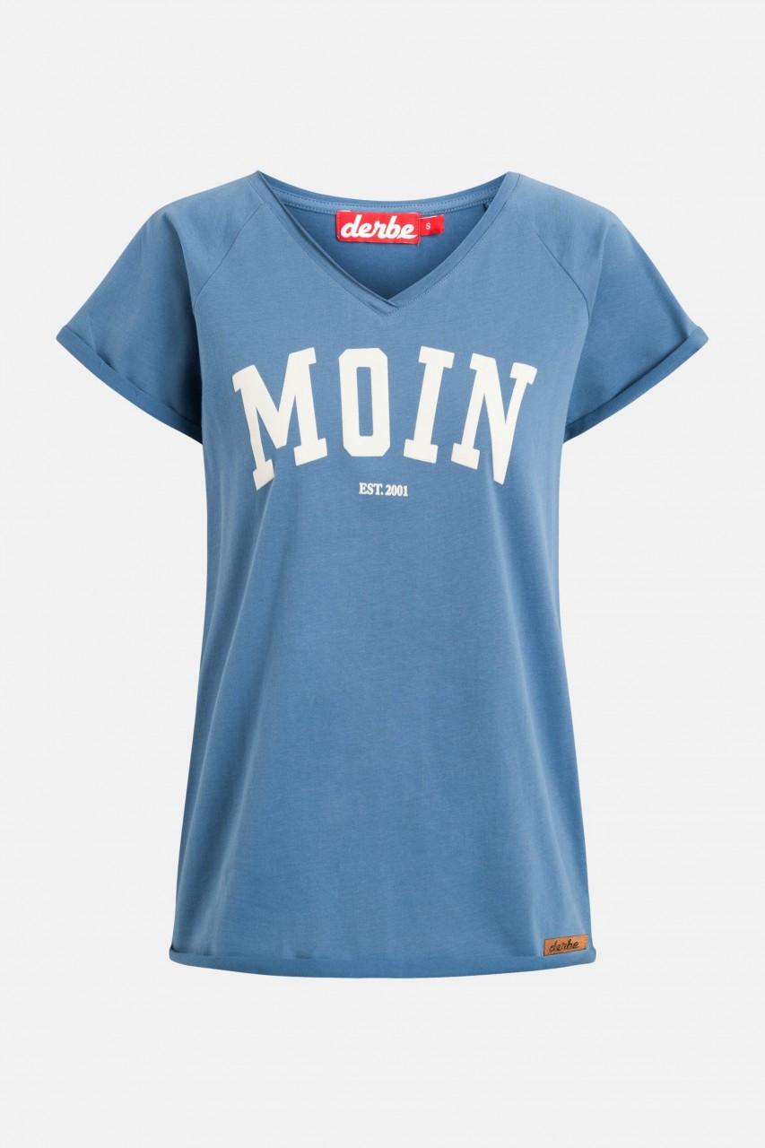Derbe Moin Damen T-Shirt Bijou Blue Blau