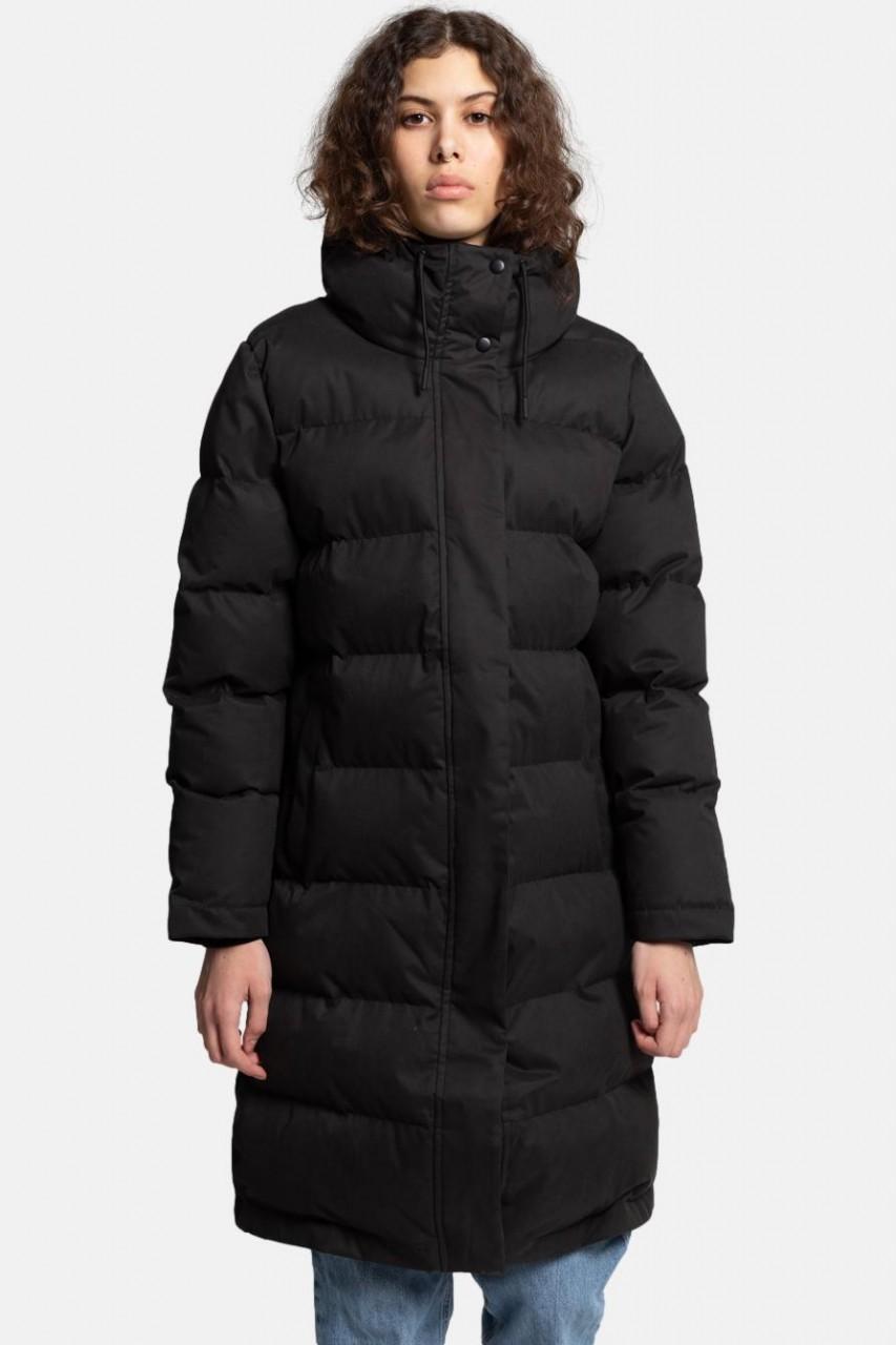 Selfhood Hooded Puffer Coat Damen Wintermantel Schwarz