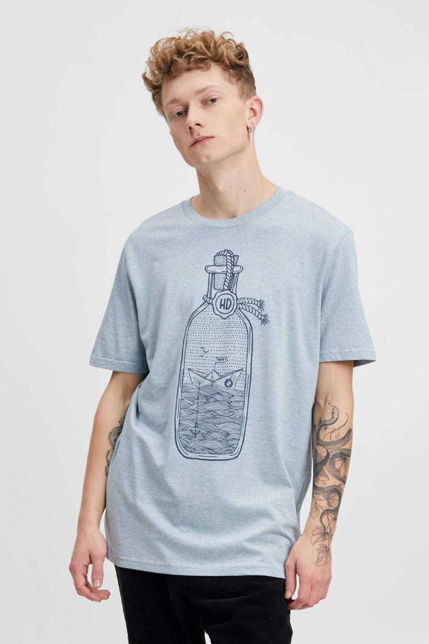 Hafendieb Buddelschiff Männer T-Shirt meliert ice blue