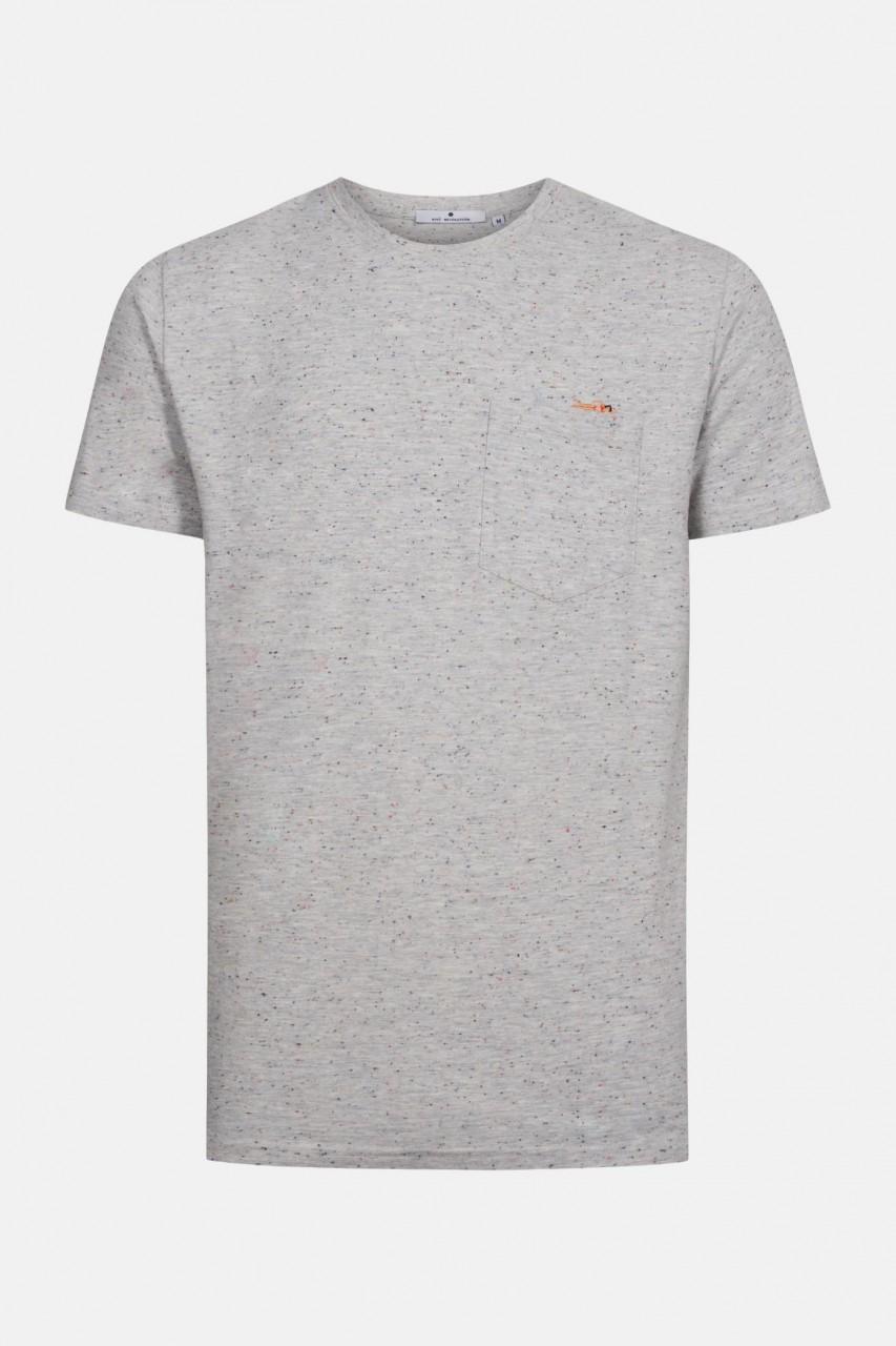 RVLT Revolution Herren T-Shirt JAW Hai Schwimmer Grau Melange