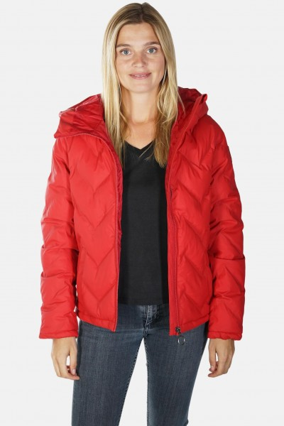 super popular a4cd3 b3b61 Derbe Interlink Damen Winterjacke Rot Kurz Daune Vegan