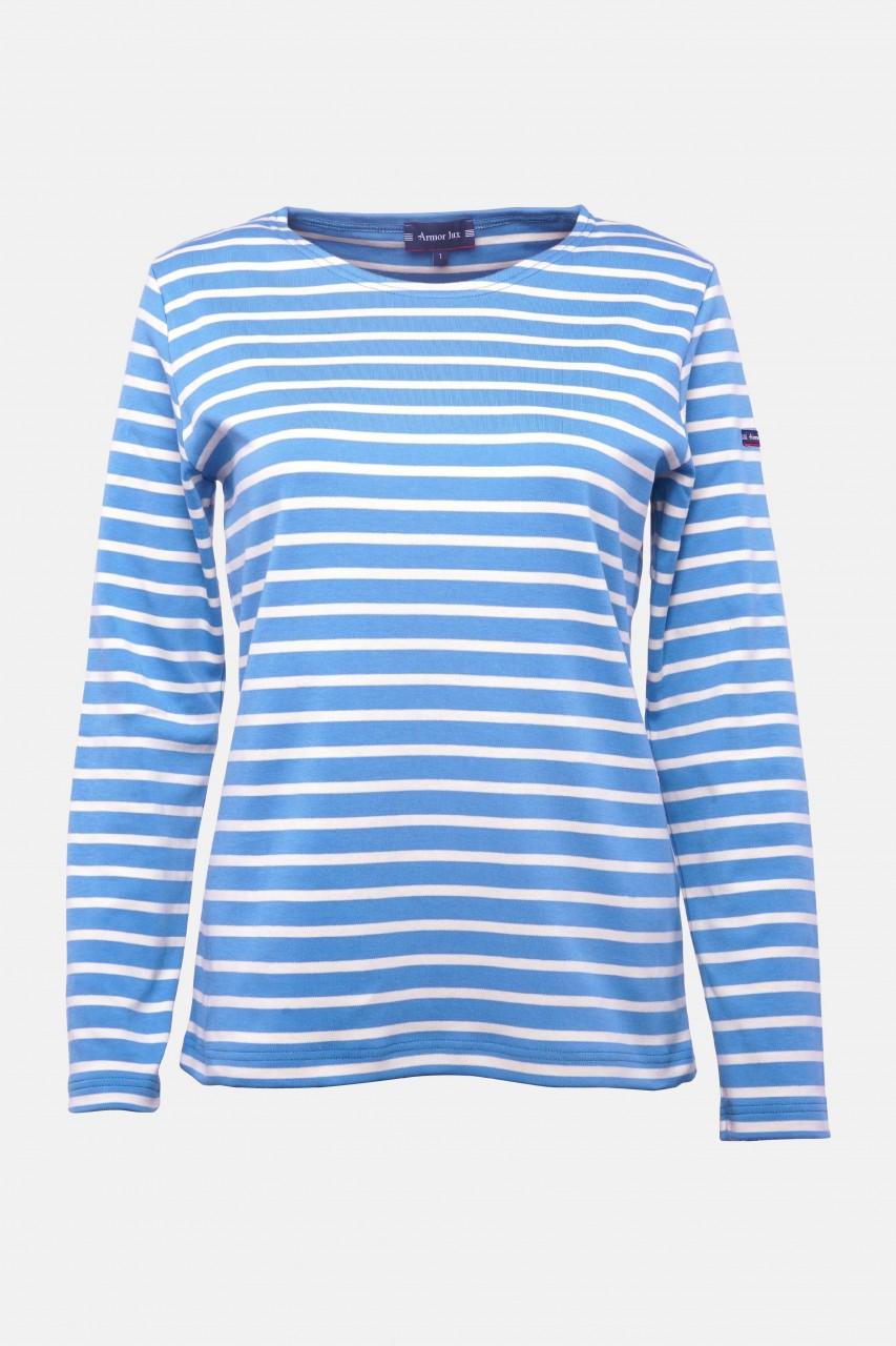 Armor Lux Lesconil Mittelblau Natur Damen Streifenshirt