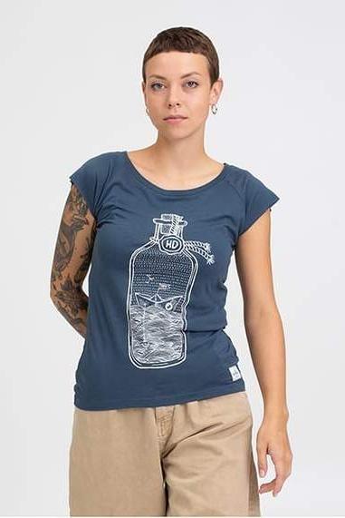 Hafendieb Buddelschiff Frauen Shirt denim