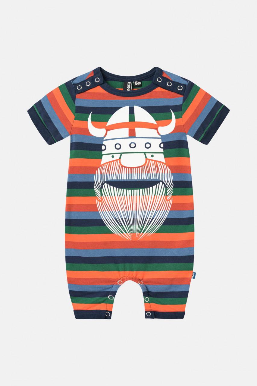 Danefae Mistral Suit Baby Body Kurzarm Bunt Gestreift