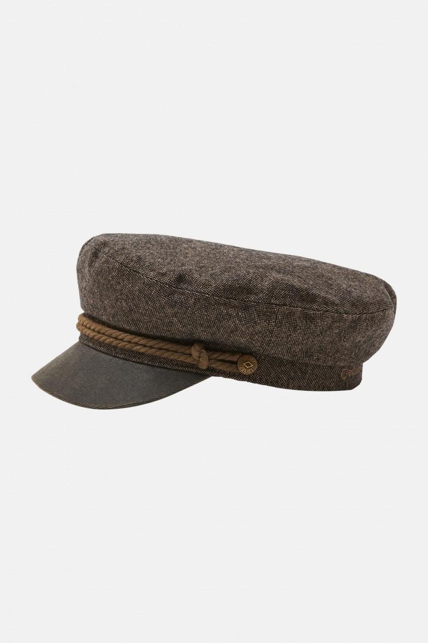 Brixton Fiddler Cap Dark Toffee Elbsegler Mütze Braun
