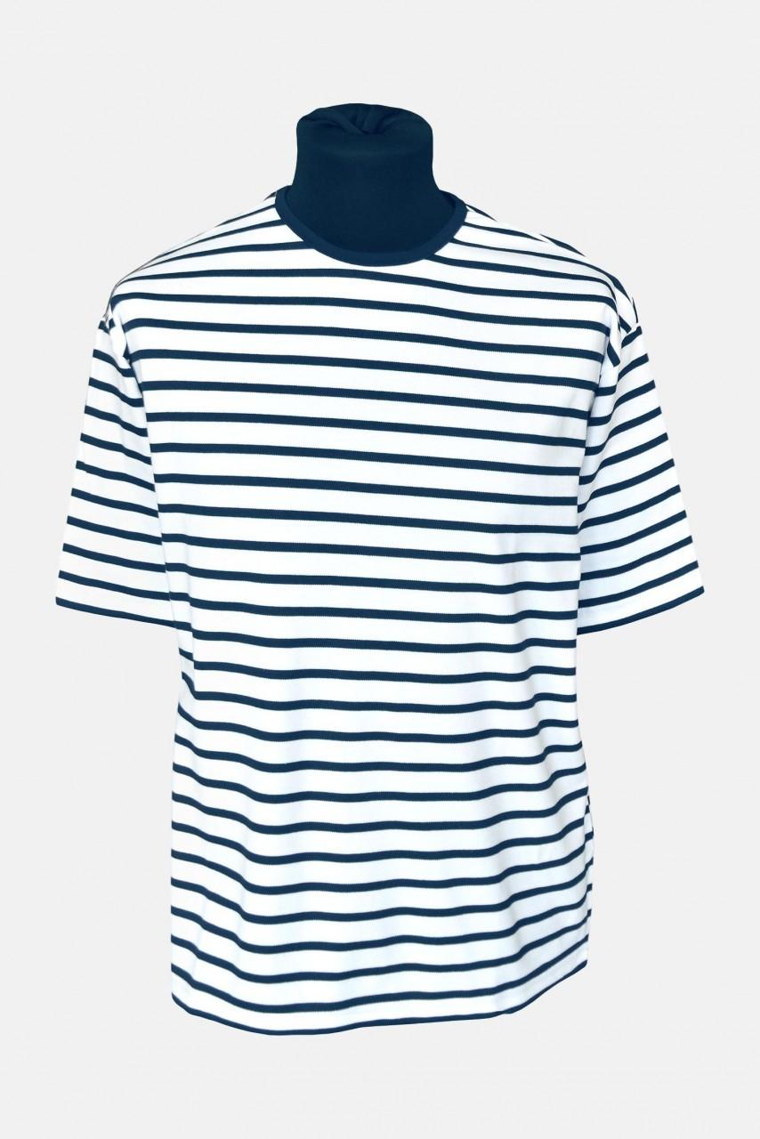 Streifenshirt, kurzarm - weiss/blaugestreift