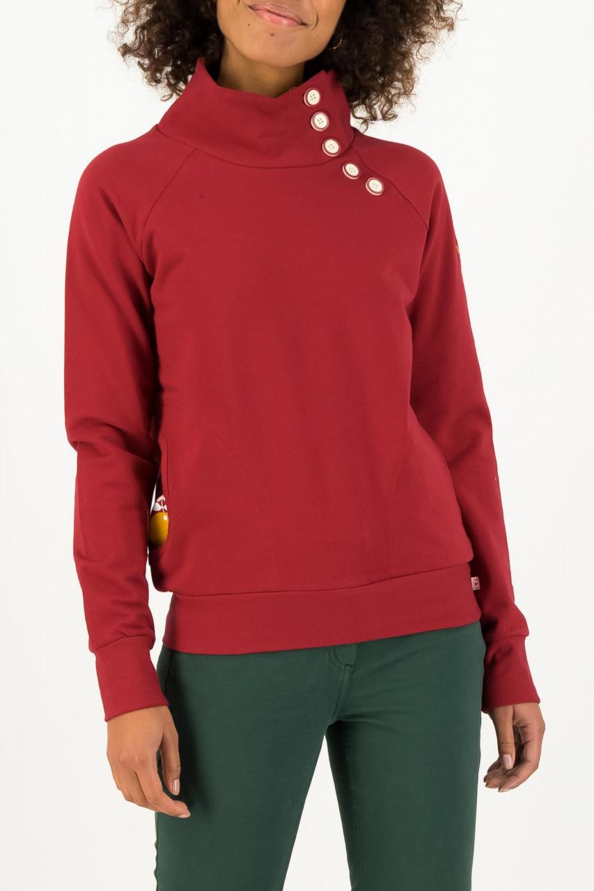 Blutsgeschwister Oh so nett Damen Pullover Kiss Red Rot