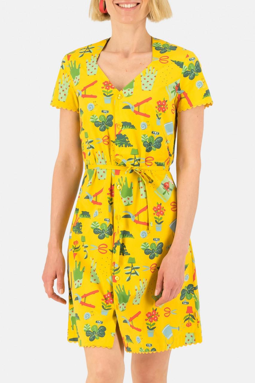 Blutsgeschwister Kleid Fairy In The Garden Dress Let Love Grow Gelb