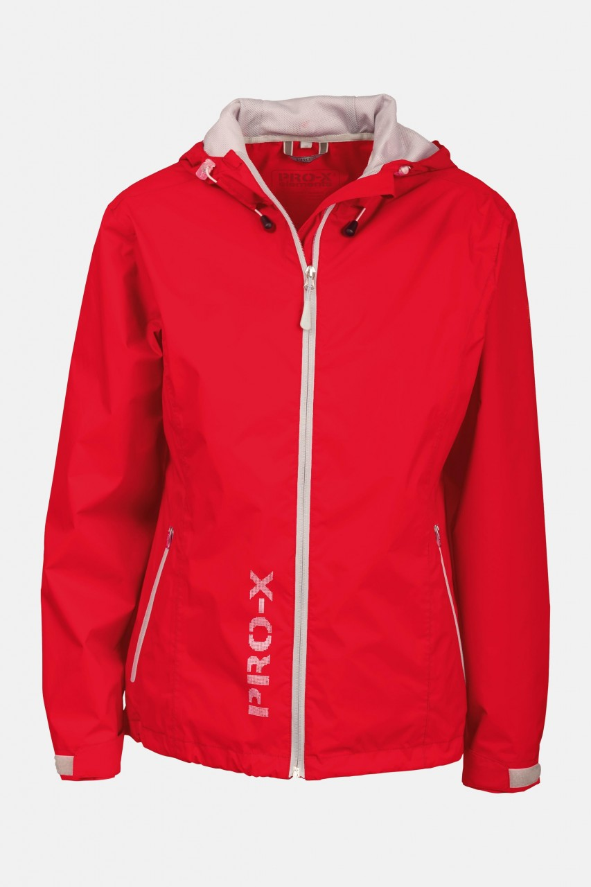 Damen Regenjacke Lady Flash Neon Orange-Silver Pro-X