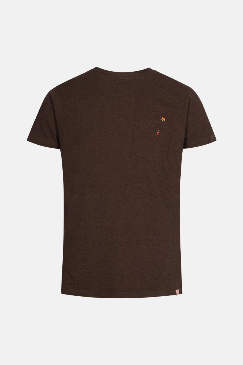 RVLT Revolution Herren T-Shirt Braun Kletterer Stick