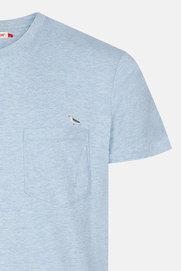 RVLT Revolution Sea Herren T-Shirt Lightblue Hellblau Möwe