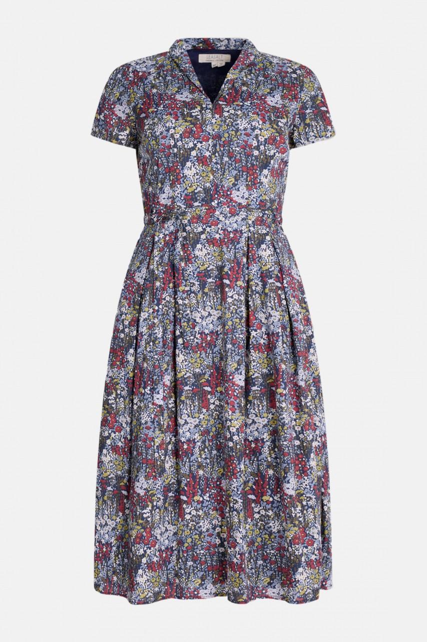 Seasalt Cornwall Top Terrace Dress Painterly Planting Damen Kleid Blumen Gots