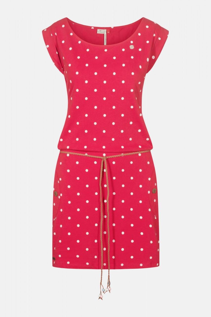 Ragwear Tag Dots Red Damen Kleid Rot Punkte