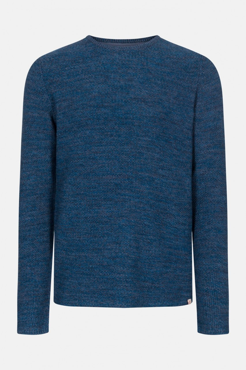 RVLT Revolution Multi Colored Knit Herren Pullover Blau