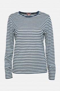 Armor Lux Streifenshirt Damen mit Leinen Blau-Weiß Heritage   Hanseheld.de 320722e21c