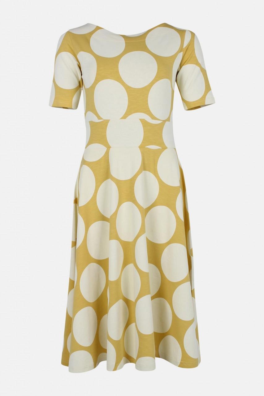 Danefae Charlotte gelb weiß gepunktet Damen Kleid