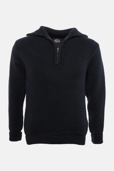 Airsoft L Troyer-Pullover mit Reißverschluss marine Gr