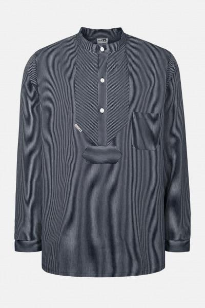 Fischerhemd Basic schmal gestreift