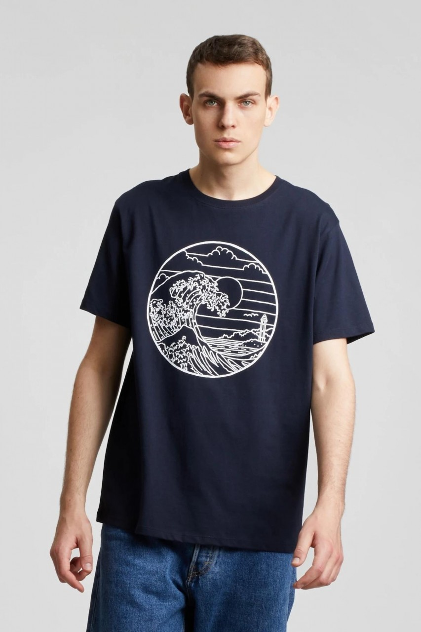 Hafendieb Waterkant Männer T-Shirt blau