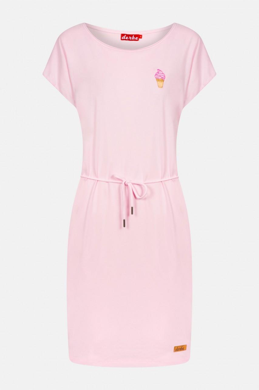 derbe soft ice damen kleid rosa