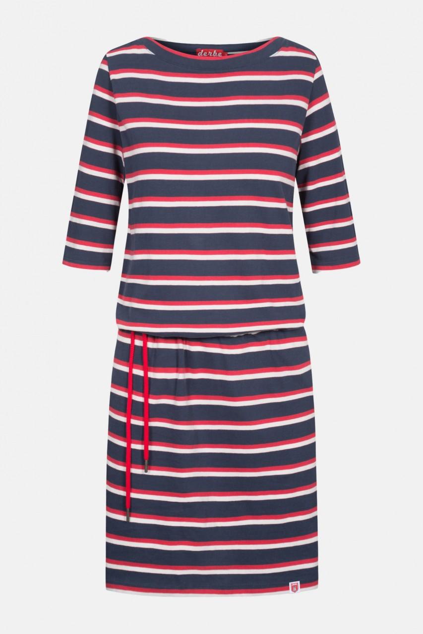 Derbe Harbor Blau Gestreift Damen Kleid Bio Baumwolle