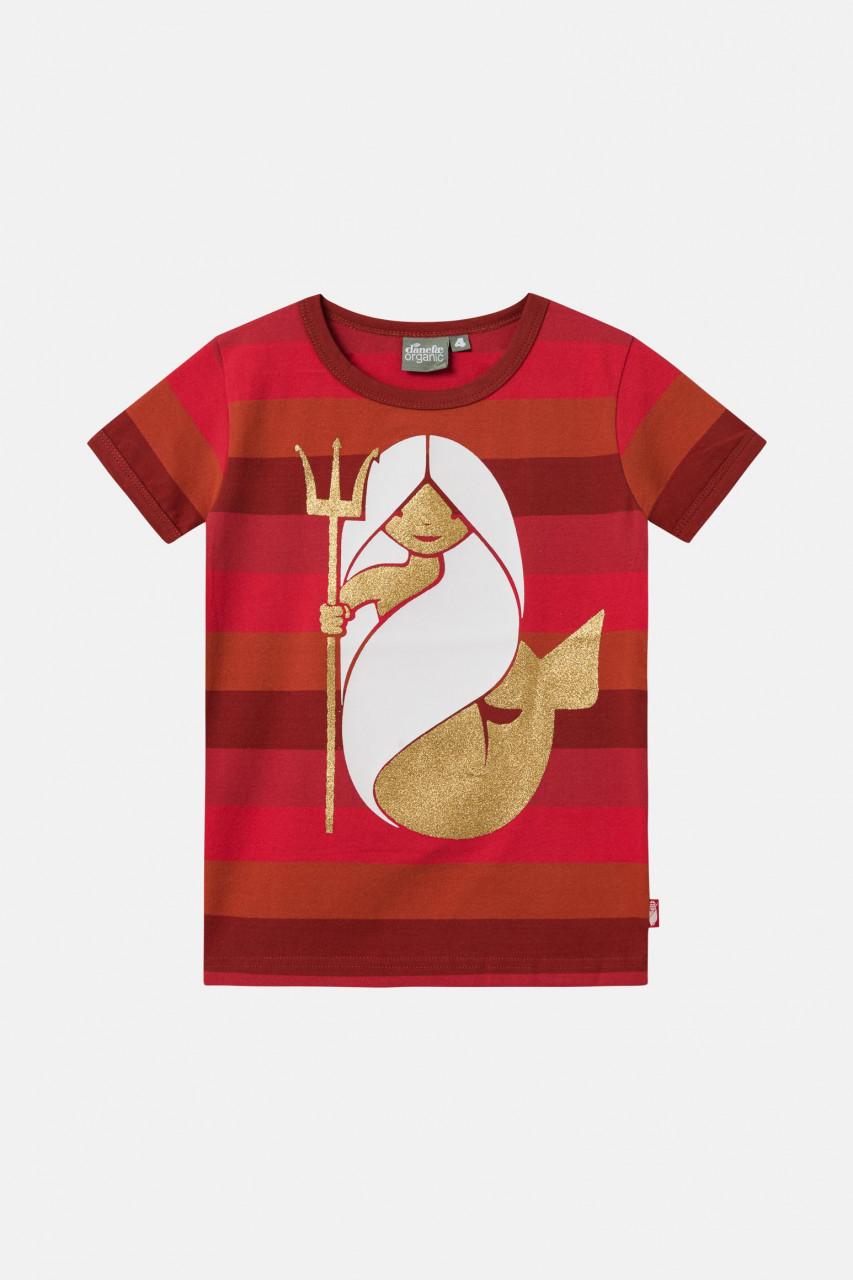 Danefae Mermaid Kinder T-Shirt Rot Organic Chieves Meerjungfrau