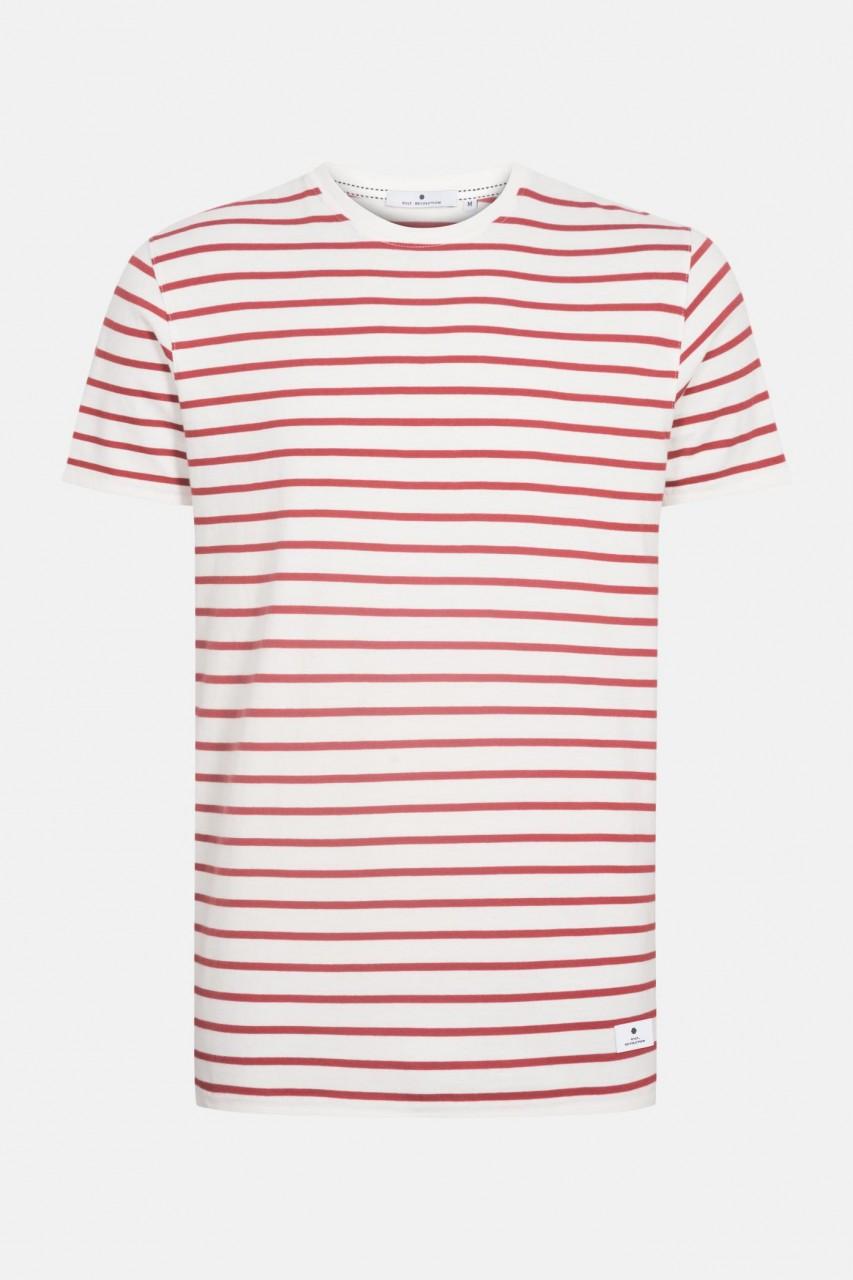 RVLT Revolution Herren T-Shirt Gestreift Rot 2020