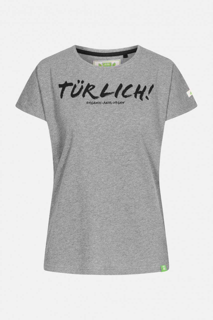 Derbe Tessa Türlich Damen Shirt Gots Organic Grau