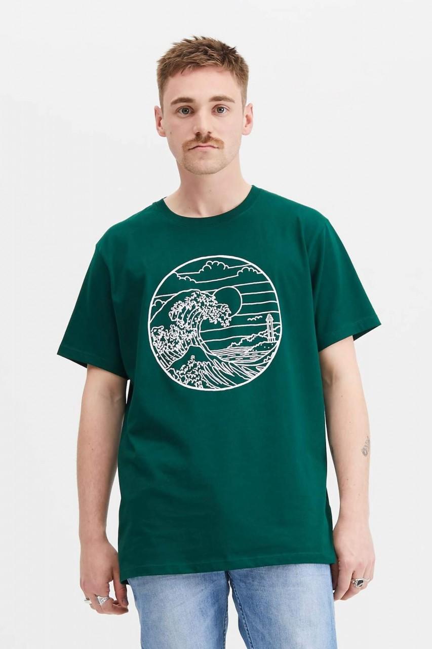 Hafendieb Waterkant Männer T-Shirt grün