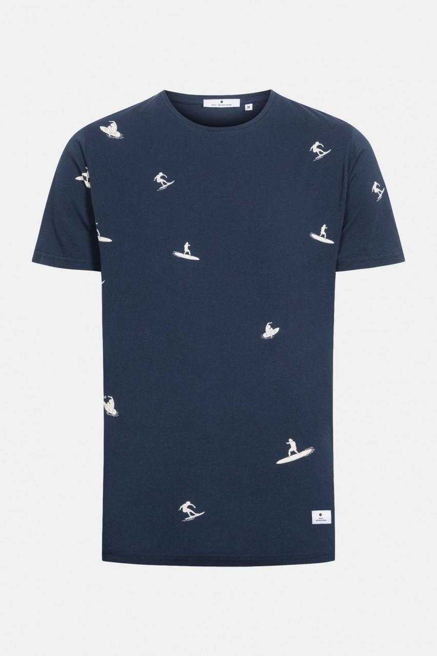 RVLT Revolution Herren T-Shirt Surfer Dunkelblau