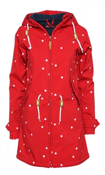 Derbe Island Friese Dots Punkte Rot Softshell Jacke