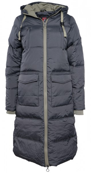 Derbe Swan Cloud Damen Wintermantel Grau Vegane Daunenjacke