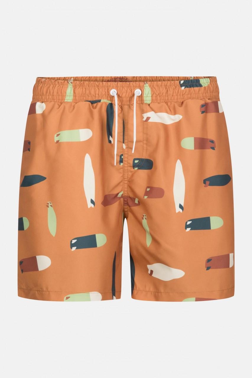RVLT Revolution BOA Swim Shorts Orange Herren Badeshorts Surf Boards