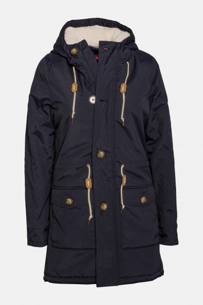 new concept cfc54 e5407 Derbe Festland Friese Damen Navy Blau Winterjacke