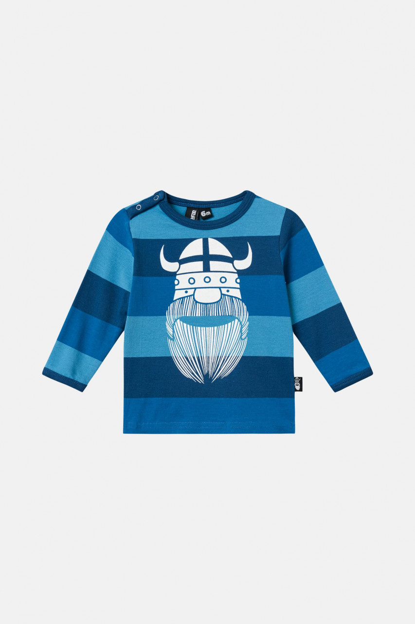 Danefae Tornado Tee Baby Kinder Shirt Blau Gestreift