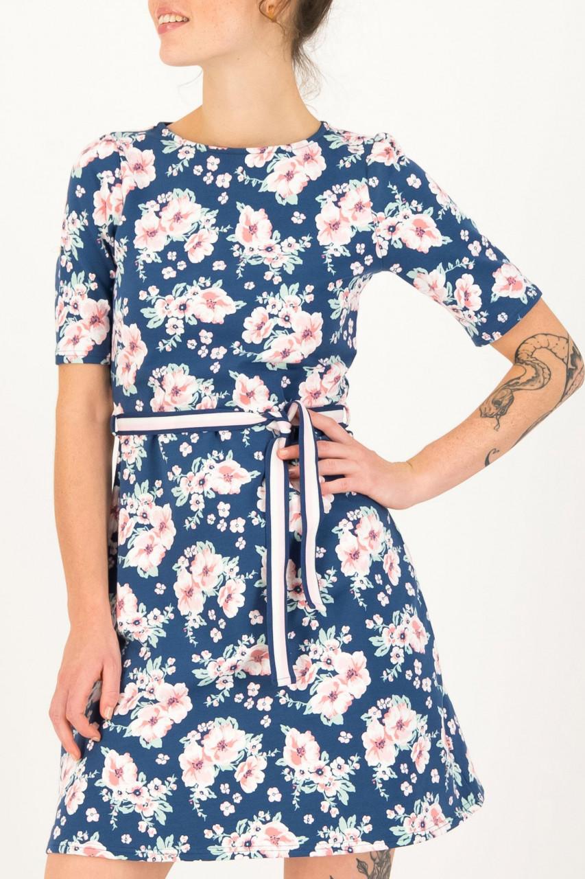 Blutsgeschwister Kleid So frei Dress Bhumi Blossom Blumen Blau