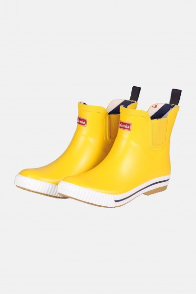 sale retailer e404f 5235c Derbe Wattpuuschen Gelb Gummistiefel Halbschuhe Chelsea Boots