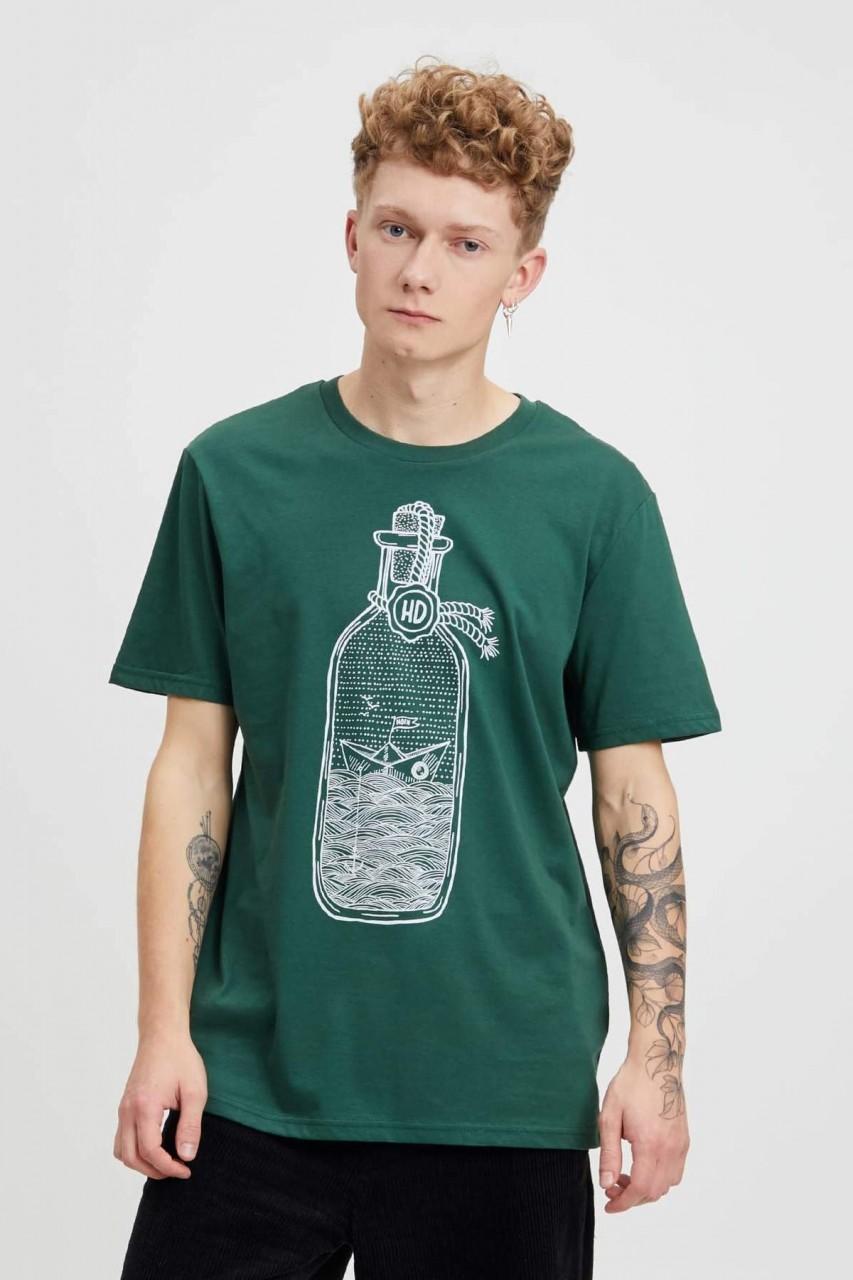 Hafendieb Buddelschiff Männer T-Shirt Heather Scarab Green   Hanseheld.de 25089dd524