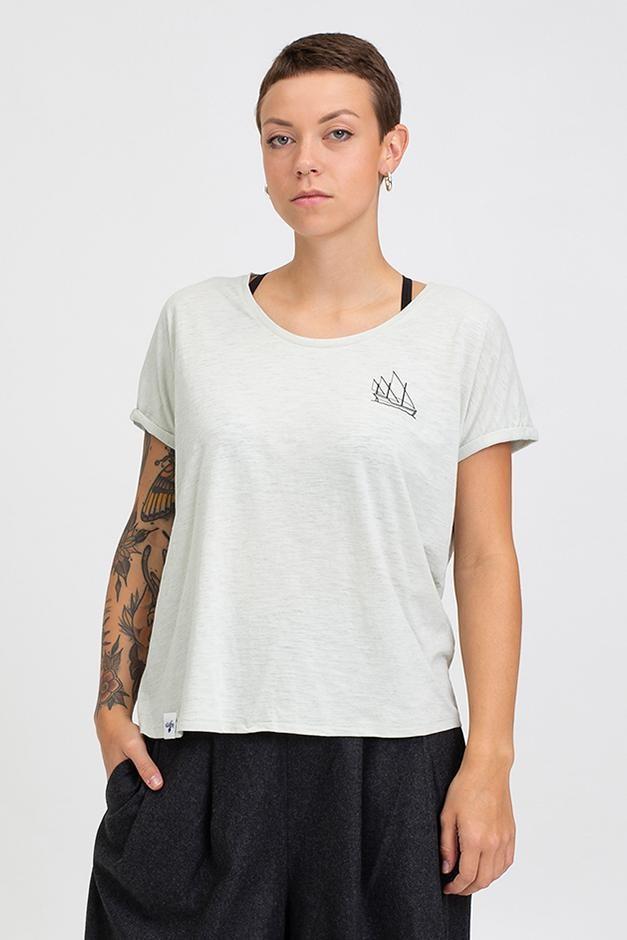 Hafendieb Karavelle Frauen T-Shirt Opaline Offwhite Weiß