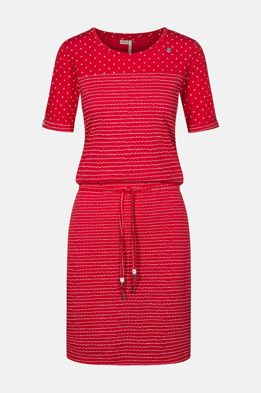Ragwear Nuggie Dress Damen Kleid Rot