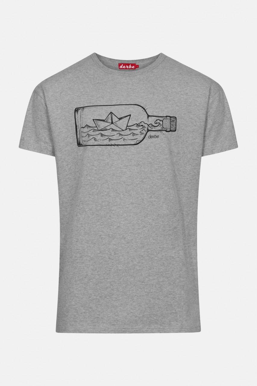 Derbe Flaschenpost Herren Shirt Grau Bio