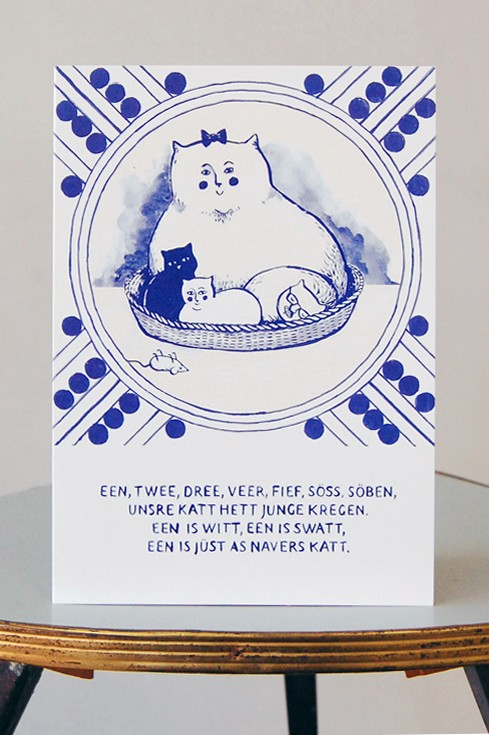 Grußkarte, Navers Katt