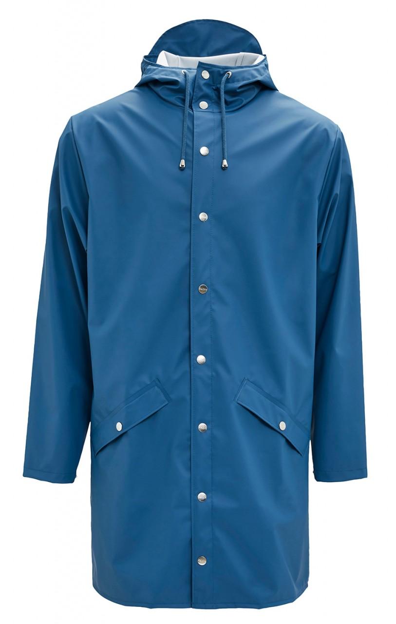 Rains Jacket Long Blau Unisex Regenmantel Faded Blue Friesennerz