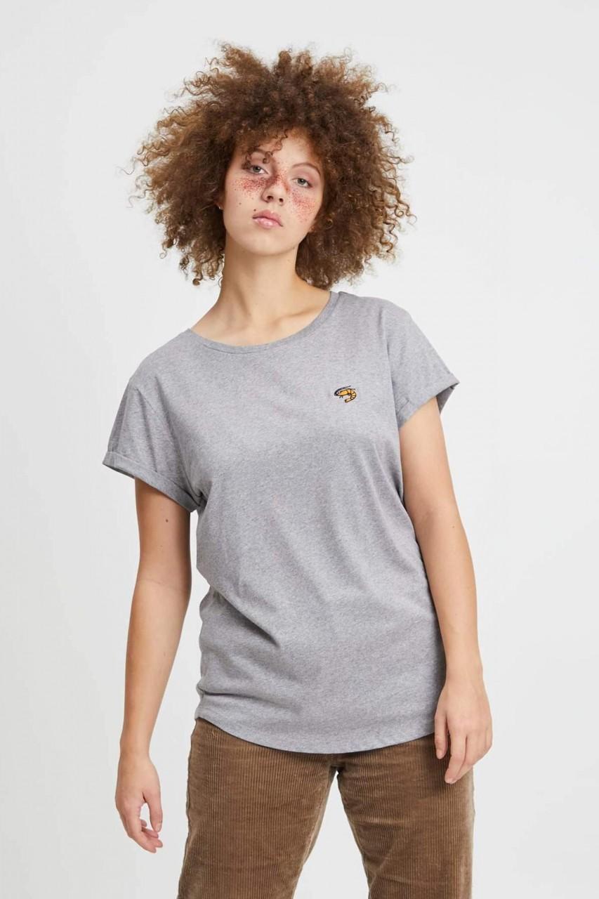 Hafendieb Granaat Frauen T-Shirt grau meliert