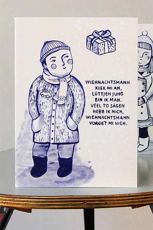Weihnachtskarte, Lüttjen Jung
