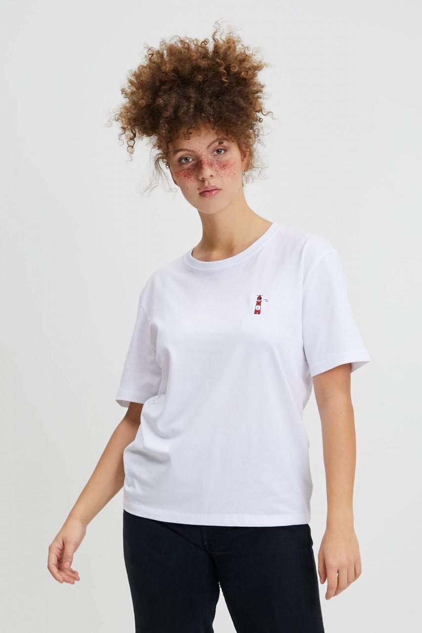 Hafendieb Borkum Frauen T-Shirt Weiß Leuchtturm