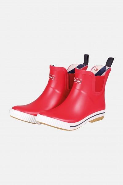 wie kauft man der Verkauf von Schuhen klassisch Derbe Wattpuuschen Rot Gummistiefel Halbschuh Chelsea Boots