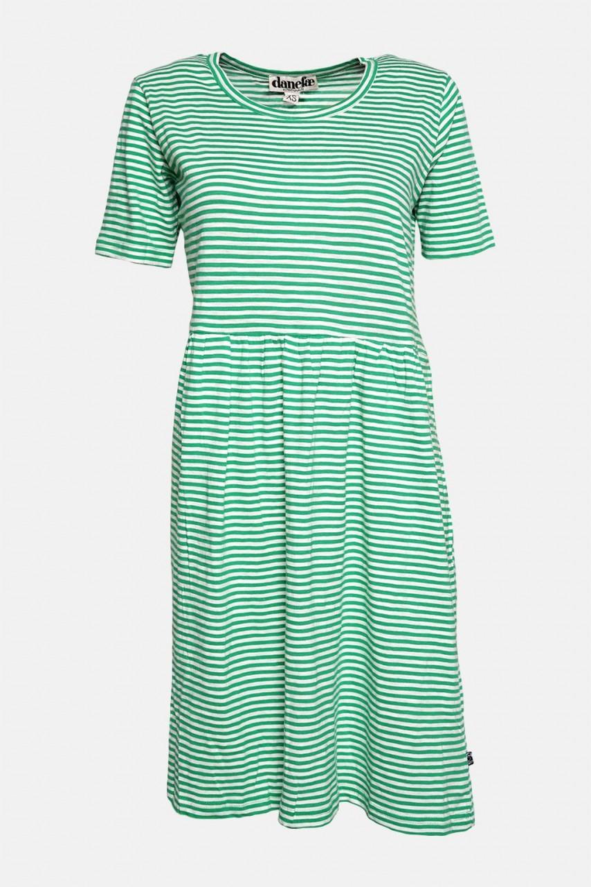 Danefae Streifenkleid Estate Grün-Weiß Sommerkleid